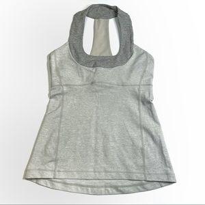 Lululemon Scoop Neck Tank Heathered Grey Size 6